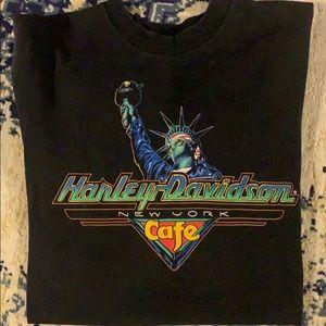 Vintage Harley Davidson New York Cafe T-shirt